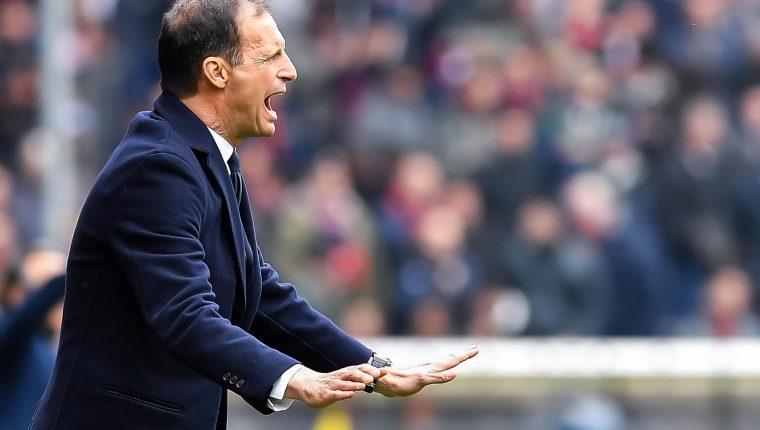 Allegri, técnico de la Juventus, confía en el regreso de Cristiano. (Foto Prensa Libre: EFE)