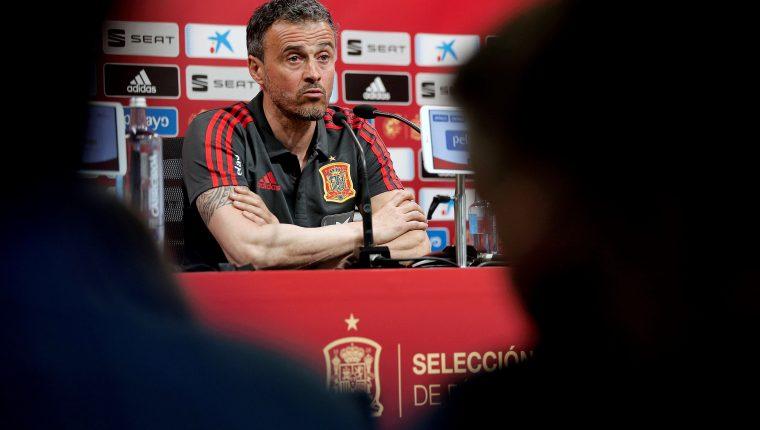 Luis Enrique recordó la goleada de España contra Malta. (Foto Prensa Libre: EFE)