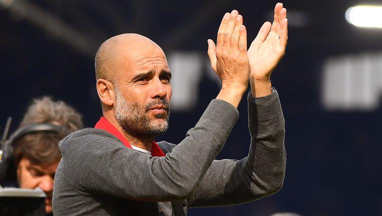 Pep Guardiola, entrenador del Manchester City. (Foto Prensa Libre: EFE)