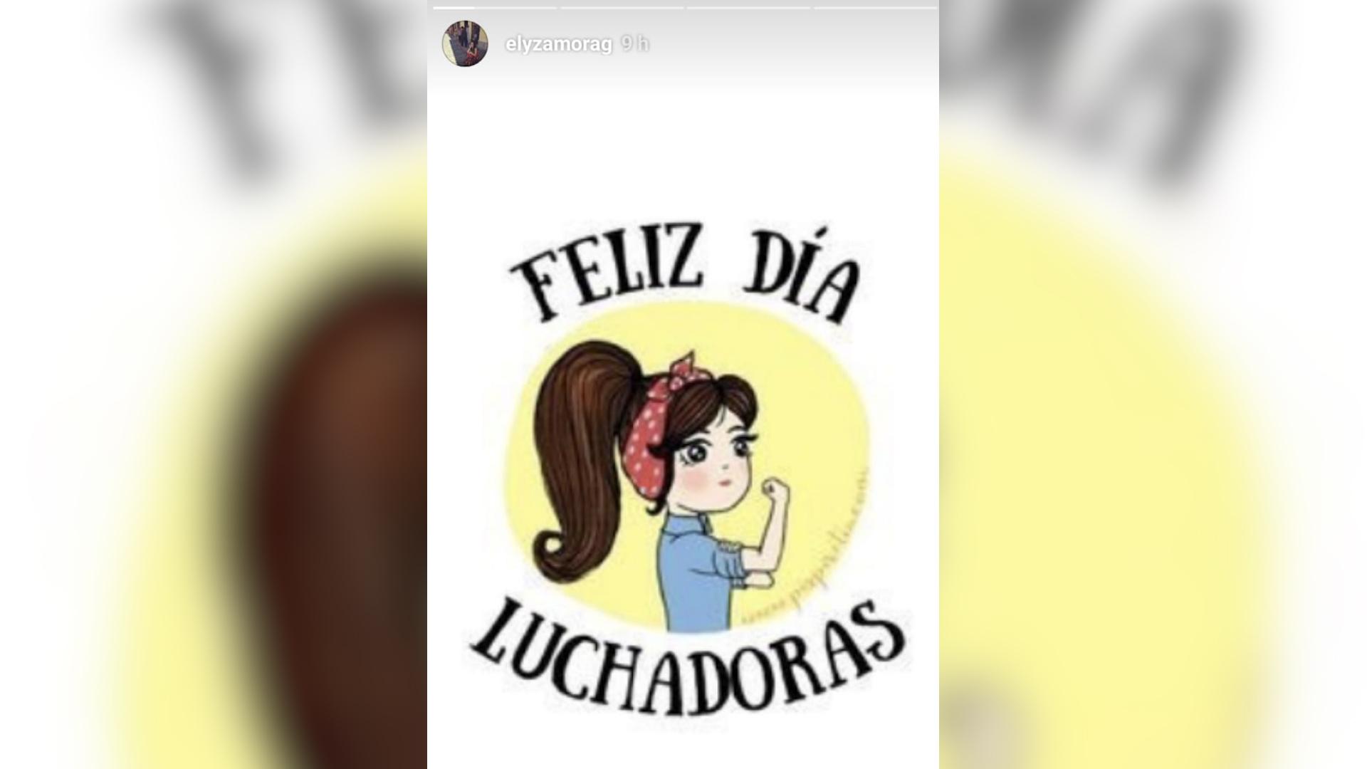 La seleccionada nacional de taekuondo, Elizabeth Zamora publicó este mensaje en su cuenta de Instagram. (Foto Prensa Libre: Elizabeth Zamora)