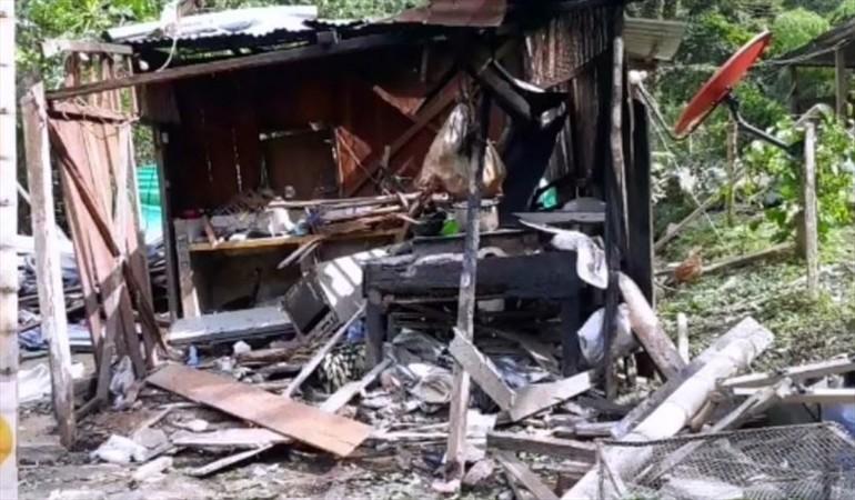 Ocho muertos y cuatro heridos por explosión en Colombia. (Foto Prensa Libre: W Radio/Erika Rebolledo).