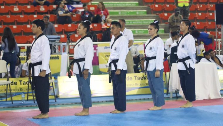 El equipo nacional de poomsea firmó su presencia a las justas de Lima 2019. (Foto FedeTaekwondo).