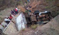 Lugar donde ocurrió el accidente del camión que transportaba migrantes centroamericanos. (Foto Prensa Libre: EFE)