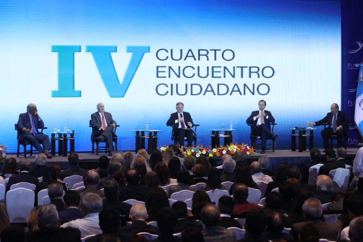 Expresidentes llaman a la ciudadanía a luchar para rescatar el país