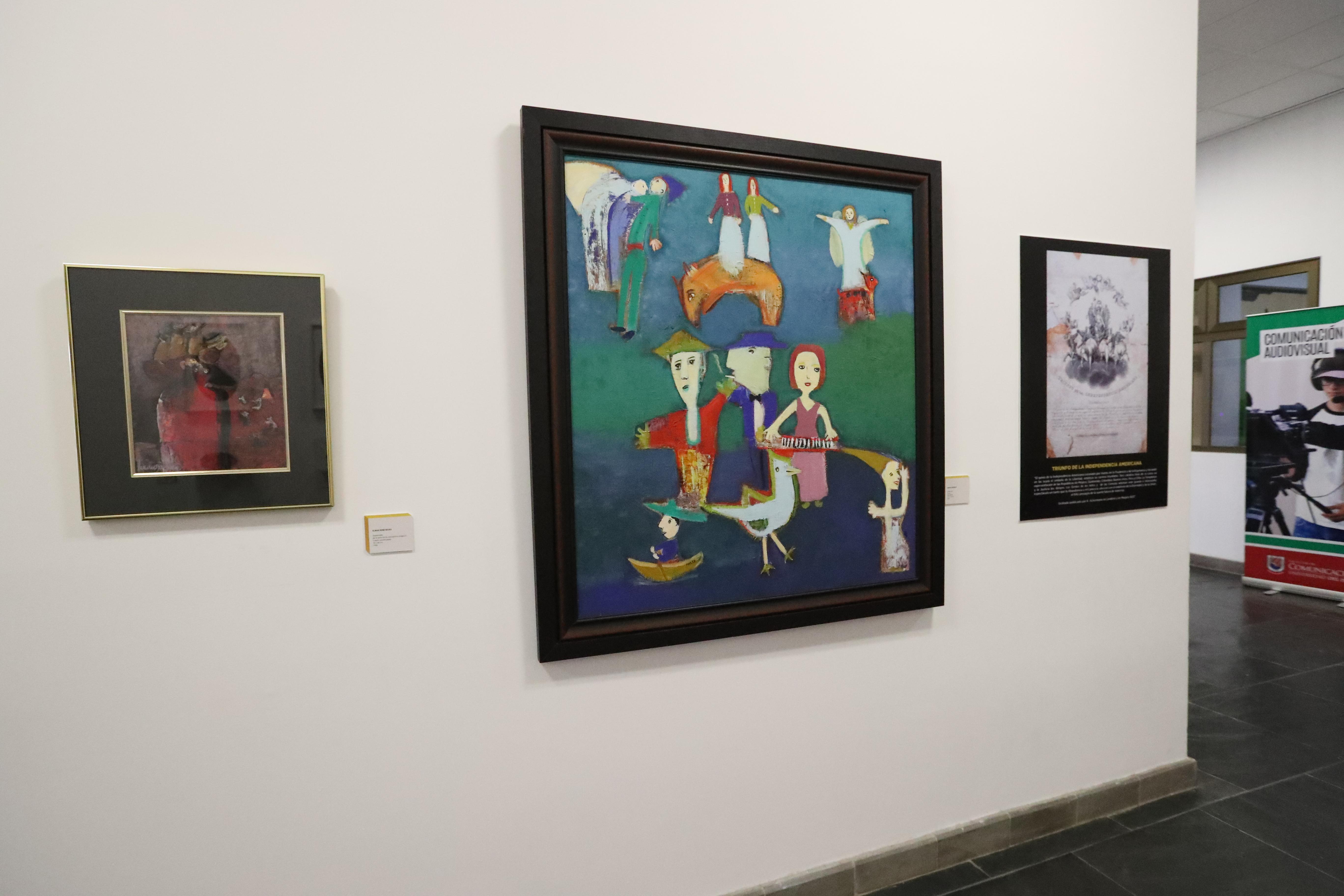 """La nueva exposición del Museo Unis Rozas Botrán, """"Ventanas del tiempo"""", se puede admirar en todo el campus de la Universidad del Istmo. (Foto Prensa Libre, Brenda Martínez)"""