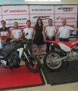 Personeros de Honda Guatemala presentaron los dos nuevos modelos de motocicletas.