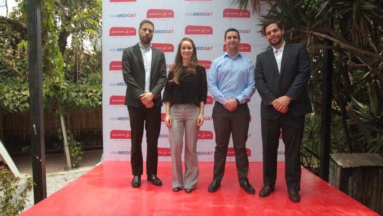Personeros de Seguros G&T en el lanzamiento de la nueva campaña