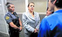 Blanca Stalling, magistrada de la corte Suprema de Justicia (CSJ) en la Torre de Tribunales.  A Stalling EE. UU. le revocó la visa. (Foto Prensa Libre: Hemeroteca PL).