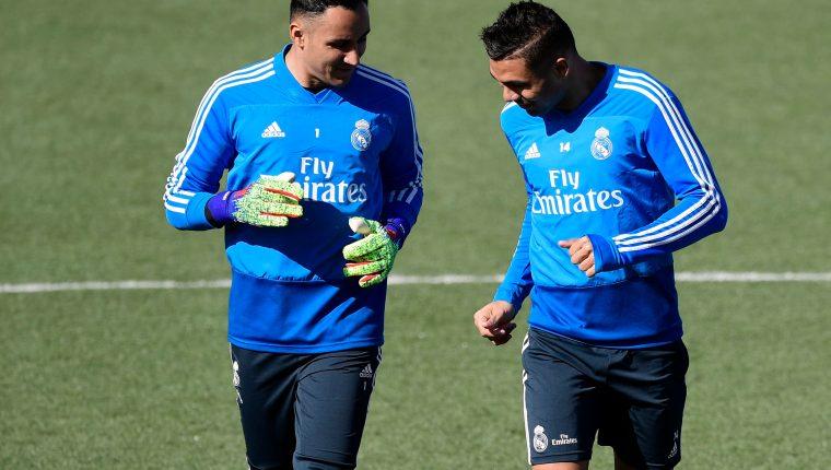 Keylor Navas no ha logrado tener muchos minutos en el Real Madrid, por lo que ahora con el regreso de Zidane se enfocará en su club. (Foto Prensa Libre: AFP)