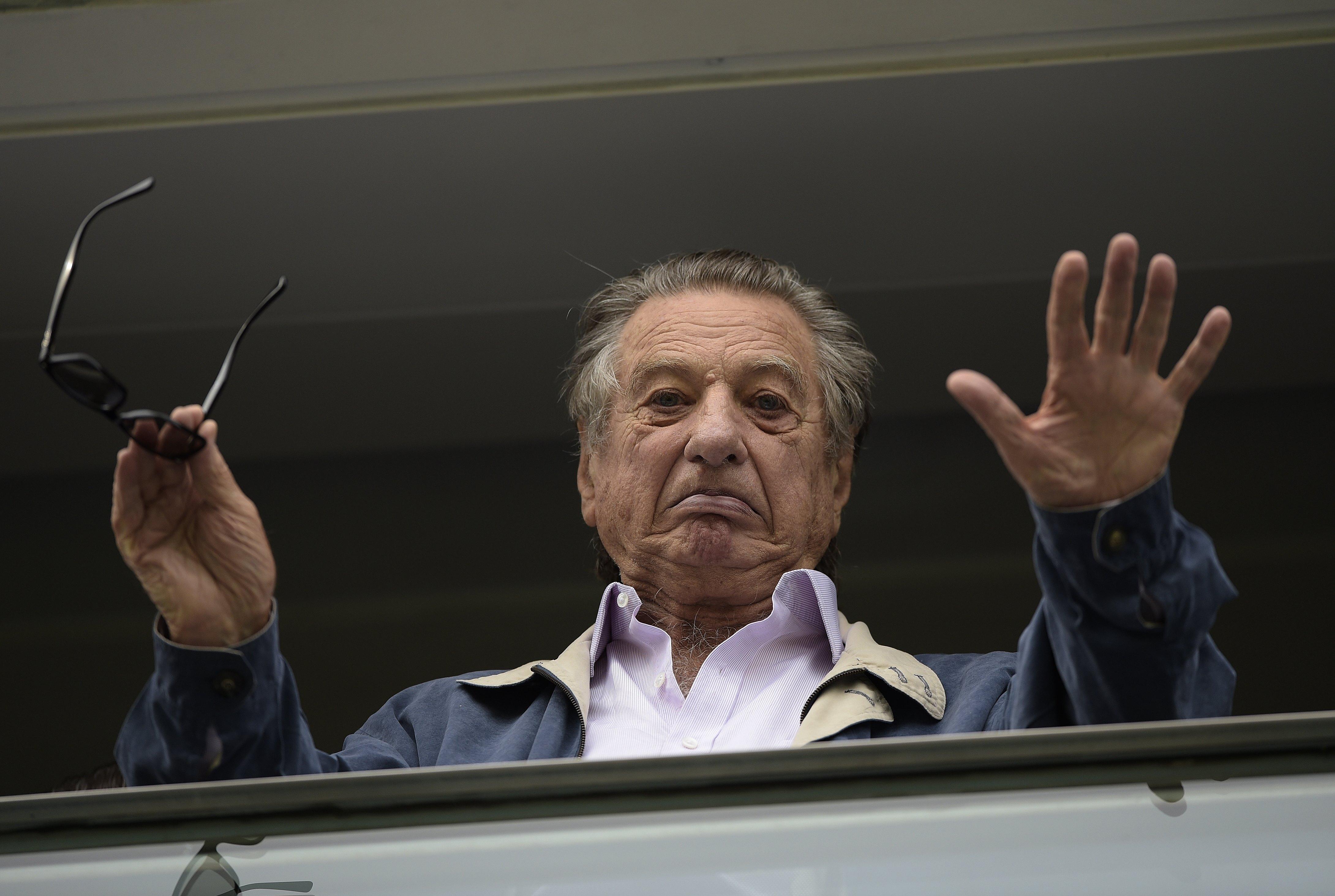 Franco Macri, padre del presidente de Argentina Mauricio Macri, a los 88 años de edad. (Foto Prensa Libre: AFP)