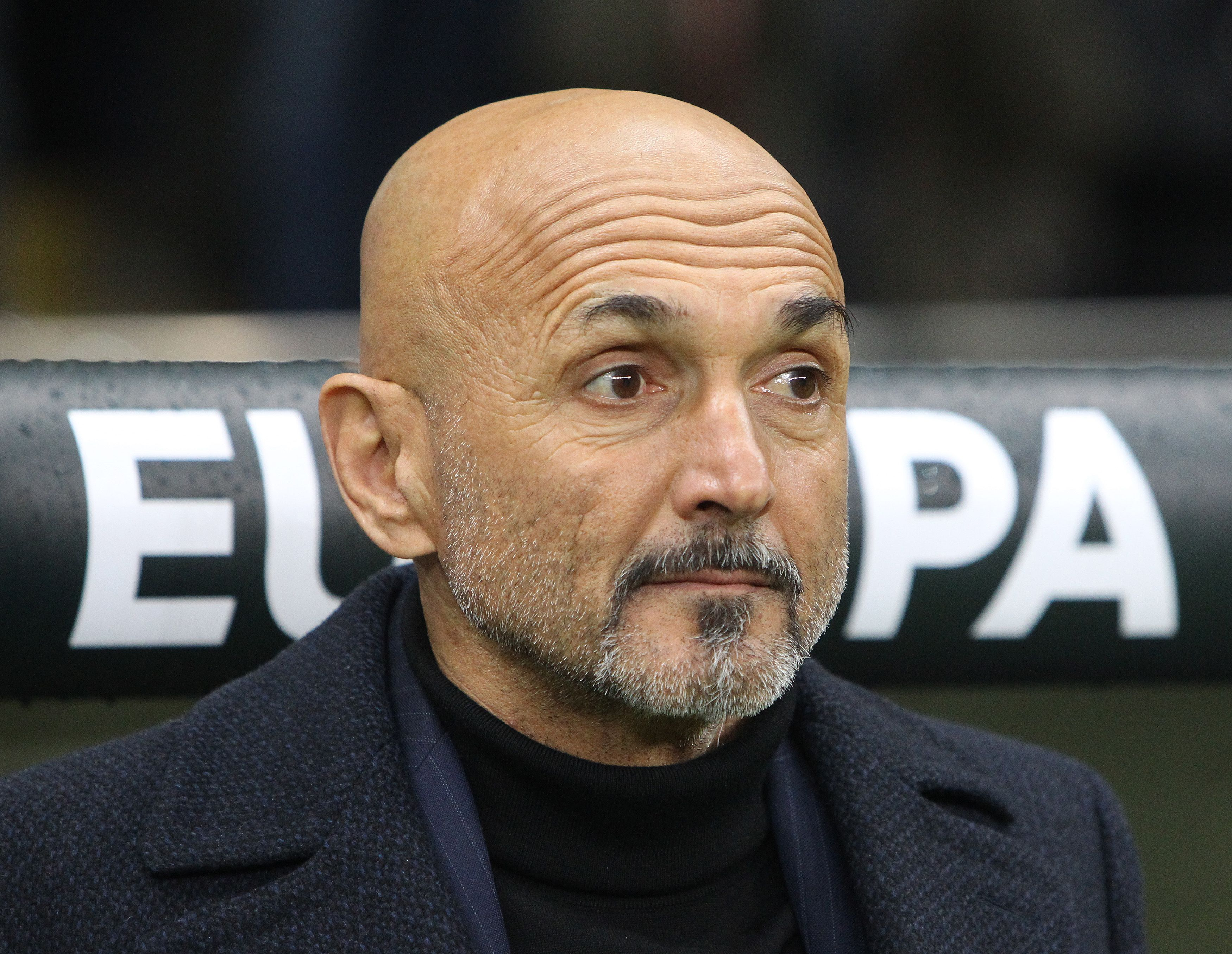 Inter Milan's head coach Luciano Spalletti is pictured prior to the UEFA Europa League round of 16  1st leg football match Frankfurt v Inter Milan in Frankfurt, western Germany on March 7, 2019. (Photo by Daniel ROLAND / AFP)