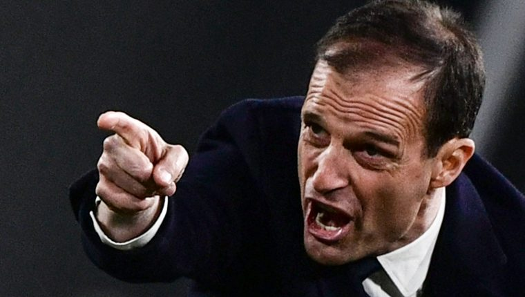 El entrenador de la Juventus, Massimiliano Allegri, siempre ha confiado en Cristiano Ronaldo. (Foto Prensa Libre:  AFP)