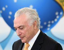 Michel Temer, en mayo de 2018. El expresidente brasileño ha sido detenido  por el caso Lava Jato. (Foto Prensa Libre: Hemeroteca PL)