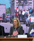 Kirstjen Nielse (centro) en la reunión con ministros de Gobernación del Triángulo Norte. (Foto Prensa Libre: Hemeroteca PL)