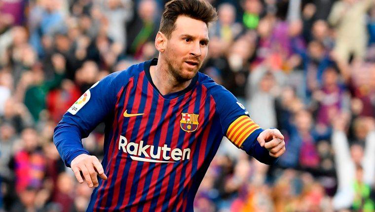 Lionel Messi lidera la tabla de goleadores en la liga española. (Foto Prensa Libre: AFP)