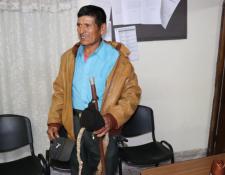 Diego Sicaj, segundo alcalde comunitario de Xetzá, Cunén, fue liberado este miércoles 5 de marzo. (Foto Prensa Libre: Héctor Cordero).