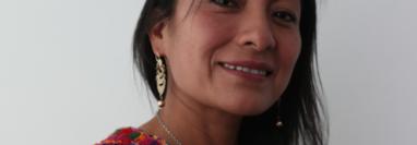 Angelina Aspuac Con lucha por un mundo mejor para las mujeres indígenas. (Foto Prensa Libre: César Pérez).