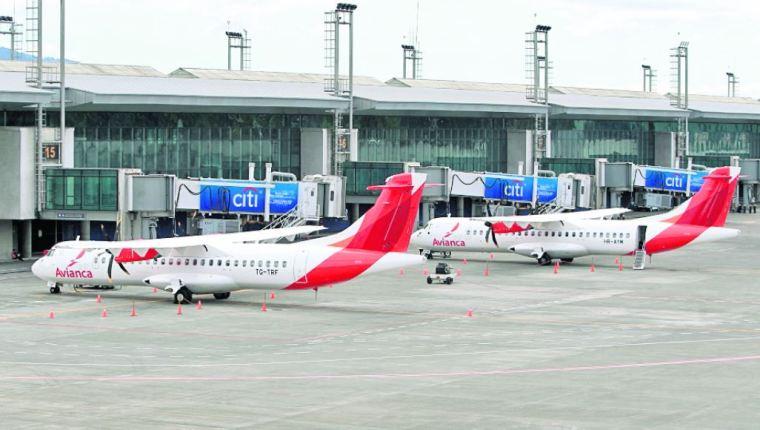 La línea aérea Avianca decidió cancelar vuelos desde Guatemala a varias ciudades de Estados Unidos y a Tegucigalpa. (Foto,Prensa Libre: Hemeroteca PL).