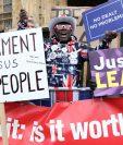 El Brexit ha causado varias protestas, en favor y en contra, en el Reino Unido. (Foto Prensa Libre: AFP)
