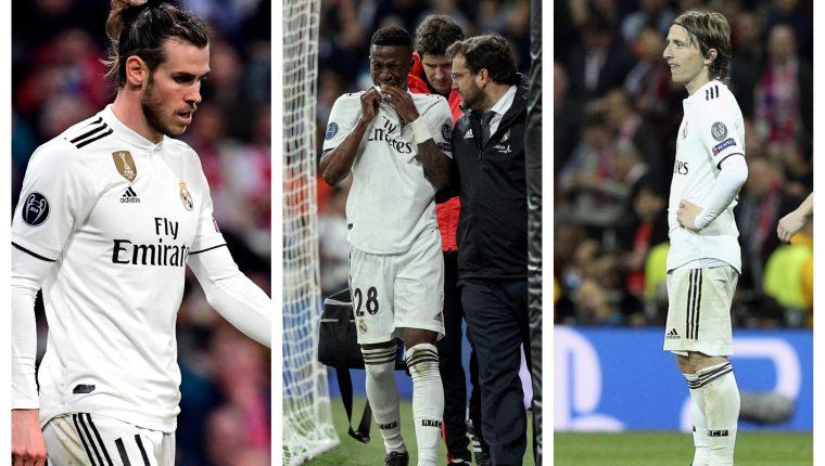 Este es el reflejo del sentir del Real Madrid. (Foto Prensa Libre: EFE y AFP)