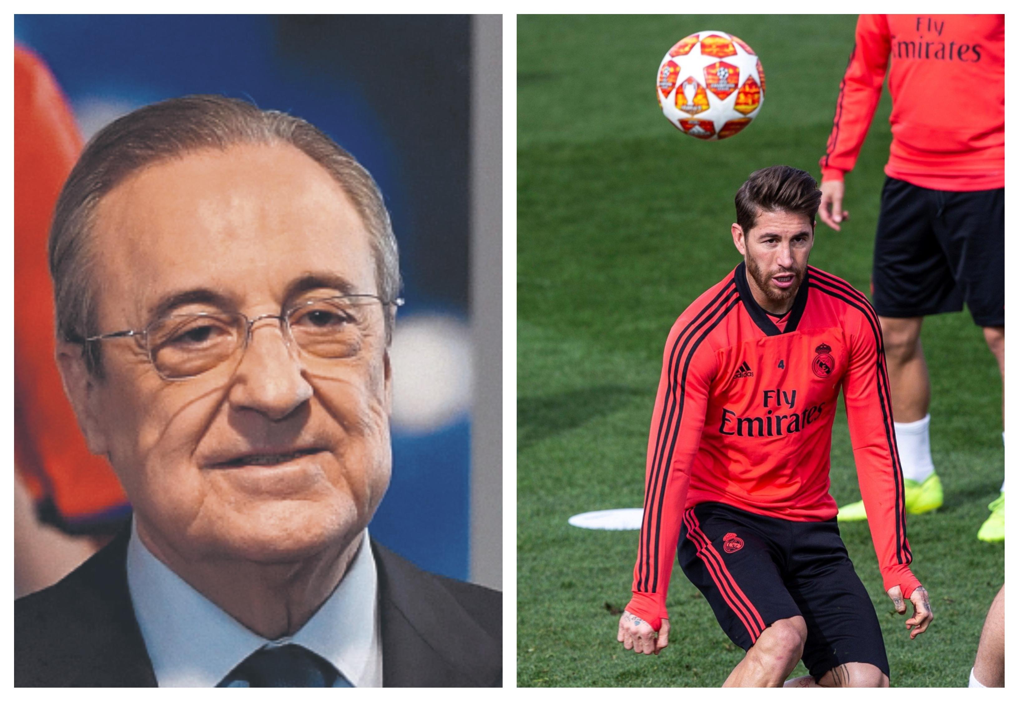 Florentino Pérez y Sergio Ramos habrían discutido tras la eliminación de la Champions League. (Foto Prensa Libre: Hemeroteca PL)