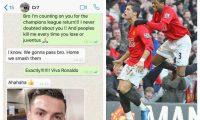 Patrice Evra y Cristiano Ronaldo fueron compañeros en el Manchester United. (Foto Prensa Libre: Twitter)