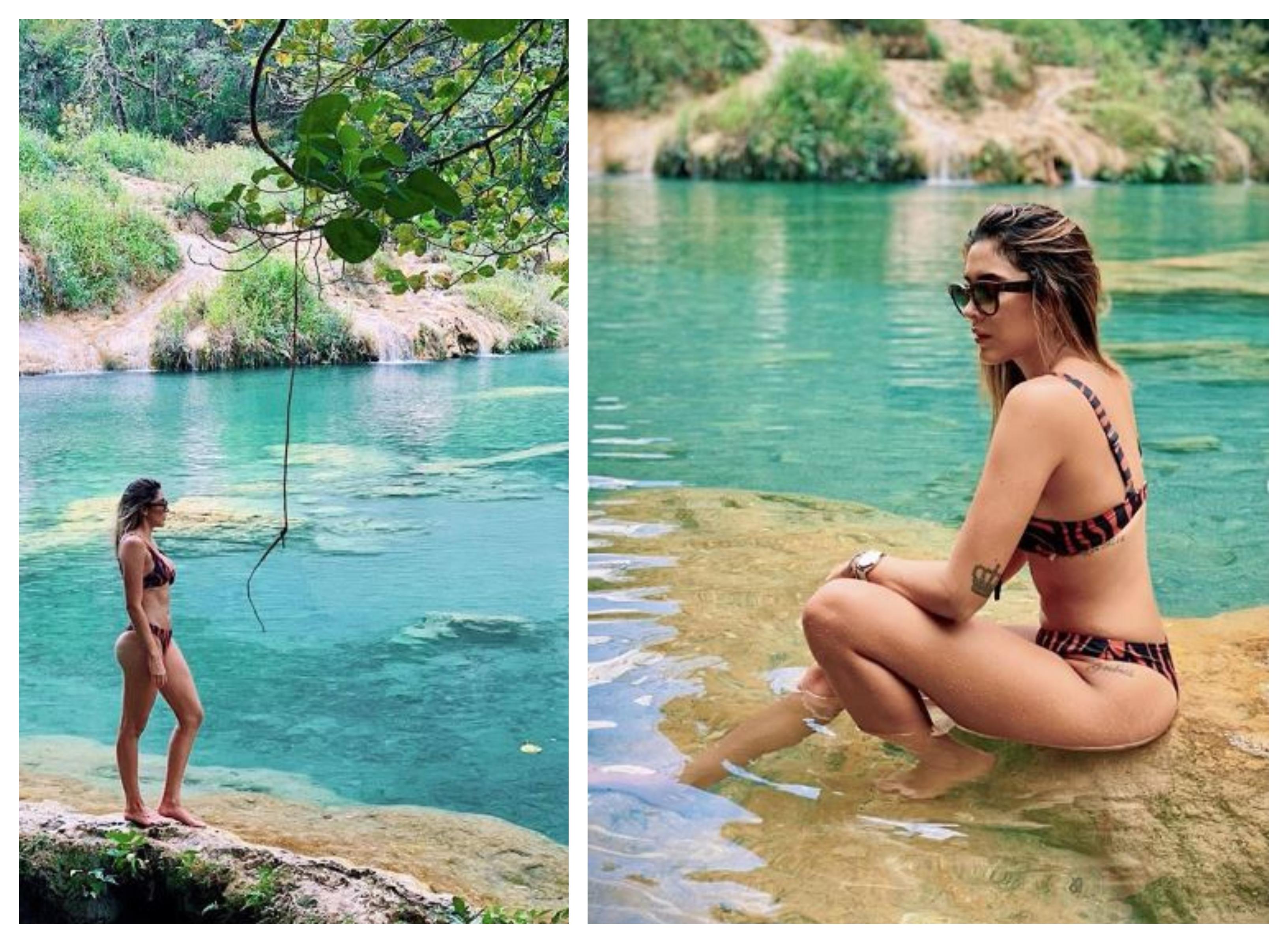 Daniela Ospina, exesposa de James Rodríguez, está de visita en Guatemala. (Foto Prensa Libre: Instagram)
