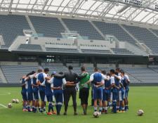 El equipo del técnico Wálter Claverí se vuelve a enfrentar a El Salvador. (Foto Prensa Libre: Fedefut)