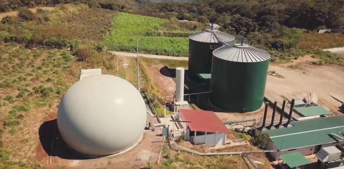 La planta de biogás de Grupo Central Agrícola se ubica en el kilómetro 52.5, carretera a Guanagazapa, Jocotillo, Villa Canales. (Foto, Prensa Libre: Grupo Central Agrícola).