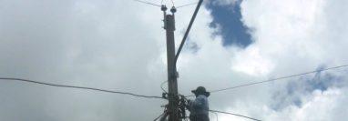 El corte de energía durará nueve horas en municipios de San Marcos y Quetzaltenango. (Foto Prensa Libre: Hemeroteca PL).