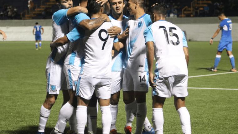 La Selección de Guatemala celebró su segunda victoria en la era Amarini Villatoro. (Foto Prensa Libre: Cortesía Fedefut)