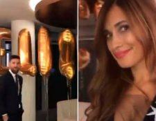 Lionel Messi y Antonella, durante la celebración romántica. (Foto Prensa Libre: Instagram)