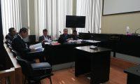 Los abogados Rudy Nery Martínez Xutuc y Mario Alfredo Menéndez Martínez, aceptaron los cargos en el caso Los Huista. (Foto Prensa Libre: Kenneth Monzón)