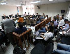 El Tribunal Octavo Penal realiza el debate contra 20 sindicados en la fase dos del caso Patrullas. (Foto Prensa Libre: Carlos Hernández)