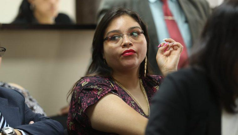 Rocío Albani Murillo Martínez, jueza de Paz de San José Pinula está señalada en el caso. (Foto Prensa Libre: Esbin García)