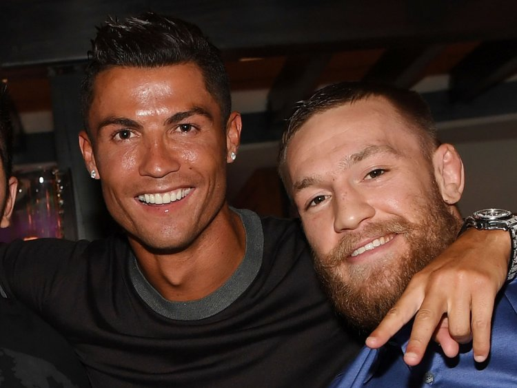Conor McGregor y Cristiano Ronaldo se han hecho buenos amigos. (Foto Prensa Libre: Internet)