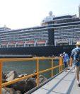 La terminal de cruceros Duque de Alba empezó a operar este lunes y recibió el primer crucero. (Foto Prensa Libre: Cortesía: AGN)