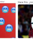 Con estos memes los internautas calificaron a los jugadores de la selección de Argentina de pechosfrío. (Foto Prensa Libre: Redes)