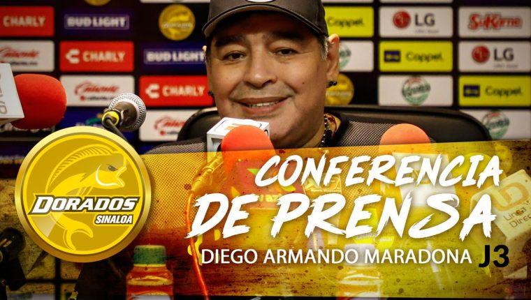 Maradona criticó a la Selección de Argentina. (Foto Prensa Libre: Twitter @Dorados)