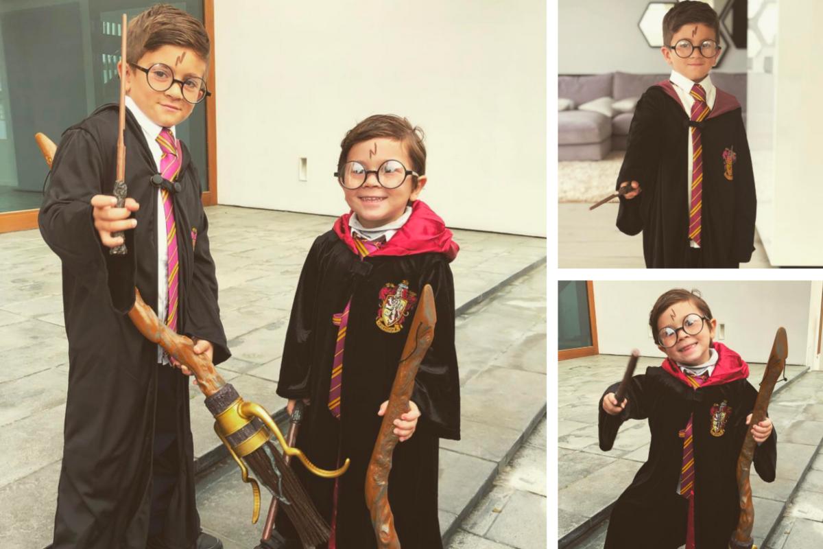Thiago y Mateo, hijos de Lionel Messi, se viralizan por fotos donde están disfrazados de Harry Potter