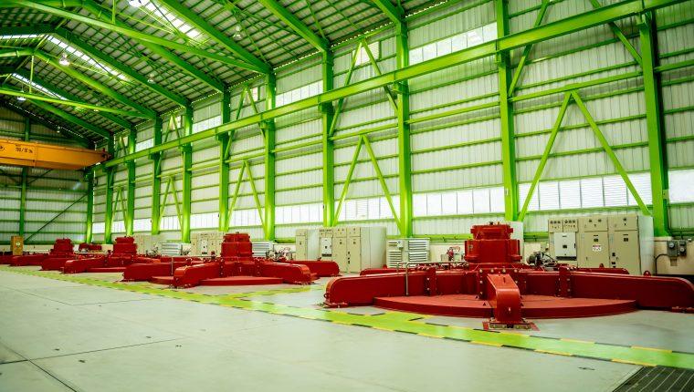 Área de maquinas y equipo las generadoras que componen el complejo hidroeléctrico Renace. (Foto, Prensa Libre: CMI Energía).