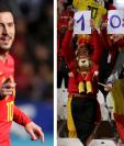 Eden Hazard llegó a cien partidos con la selección de Bélgica. (Foto Prensa Libre: AFP)