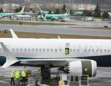 Un avión Boeing 737 MAX en la fábrica de Washington EE. UU. (Foto Prensa Libre: AFP)