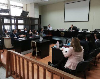 La audiencia de primera declaración inició en el Juzgado de Mayor Riesgo A, a cargo de Claudette Domínguez. (Foto Prensa Libre: Kenneth Monzón)