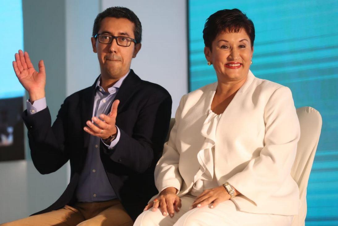 Thelma Aldana, exfiscal general y candidata presidencial el día de su proclamación. (Foto Prensa Libre: Hemeroteca PL)