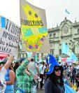 Una protesta en la Plaza de la Constitución contra la corrupción. (Foto Prensa Libre: Hemeroteca PL)