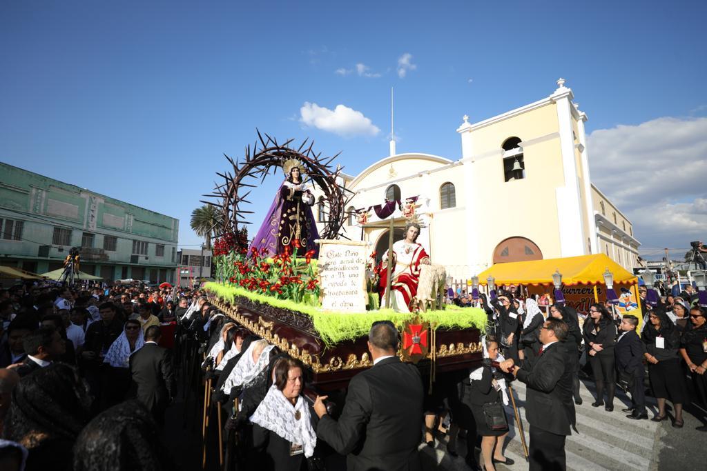 Procesión de los Siete Dolores de la Virgen de San José, zona 1.