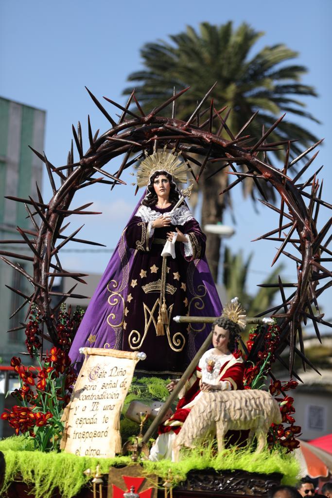 La Virgen recorre las calles de la zona 1 el segundo sábado de Cuaresma, todos los años. Foto Prensa Libre: Jurgen Wellman