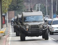 El movimiento se llevó a cabo un día después de que la Embajada de EE. UU. en Guatemala confirmó a Prensa Libre la suspensión de ayuda militar. (Foto Prensa Libre: Erick Ávila)