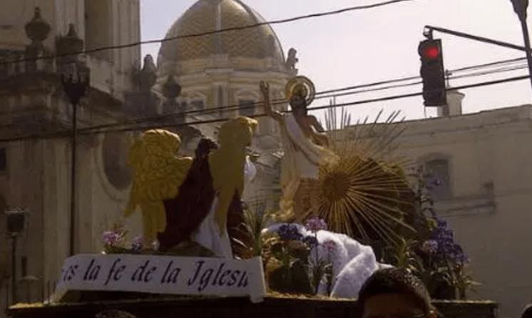Procesión de Jesús Resucitado de Le Merced. (Foto Prensa Libre: Hemeroteca PL).